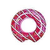 L + H WORLD XXL aufblasbarer Donut Schwimmring Pink in Premium Qualität | Schwimmreifen Schwimmring Donut Reifen Groß aufblasbar mit Biss | Ideal für den Pool für Kinder & Erwachsene