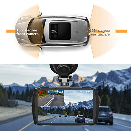 Product Image 8: Z-Edge Dash Cam Front and Rear 4.0″ Touch Screen Dual Dash Cam FHD 1080P with Night Mode, 32GB Card Included,155 Degree Wide Angle, WDR, G-Sensor, Loop Recording, Support 256GB Max
