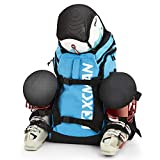 XCMAN Ski Boot Backpack Lightweight and Durable Ski Boots Bag-Stores Gear Including Helmet, Snowboard,Boots,Goggles, Gloves & Accessories