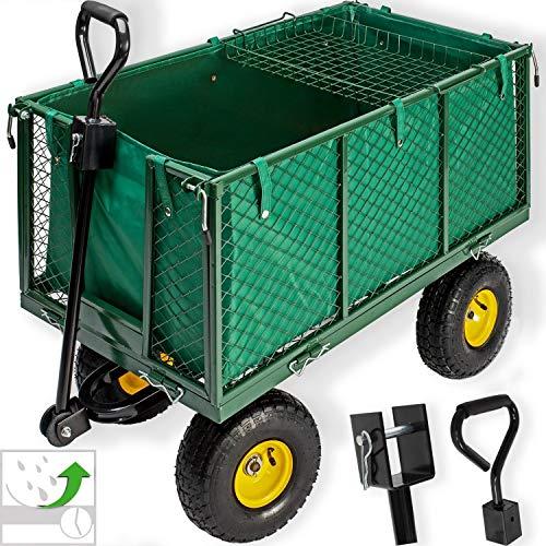 Kesser® Bollerwagen 550kg belastbar Transportwagen Gartenwagen Gartenkarre herausnehmbare Plane Gerätewagen Handwagen vielseitig einsetzbar
