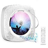 Gueray Lecteur CD Portable Bluetooth Mural Haut-Parleur HiFi Intégré avec...
