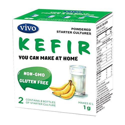 VIVO Real Kefir Starter/Natural (5 boxes) Makes up to 30 quarts of kefir