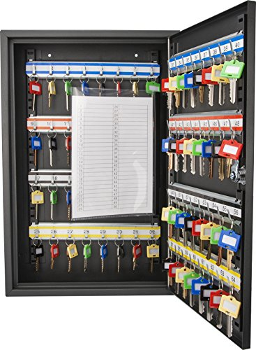 BARSKA CB12486 Key Lock 64 Position Adjustable Key Cabinet Lock Box Black