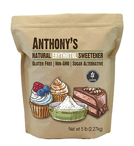 Anthony's Erythritol Granules, 5 lb, Non GMO, Natural Sweetener, Keto & Paleo Friendly