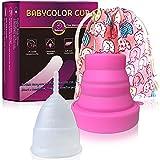 Coupe Menstruelle en Silicone – Transparente Réutilisable Flexible Menstrual Cup...