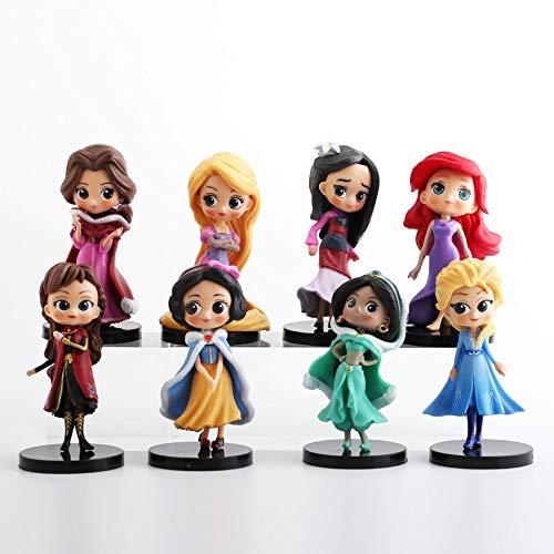 CYSJ Princesa Cake Topper 8Pcs Anime Decoración de Tartas F
