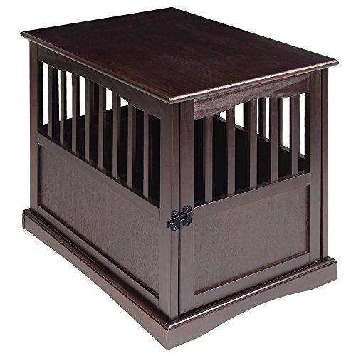 Casual Home Wooden Medium Pet Crate, End Table,...