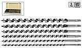 Sthor 22466Lot de 6 mèches à bois ajustables 10–20x 460mm