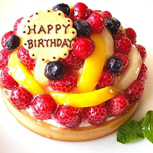 【即日出荷・日時指定対応可】誕生日ケーキ バースデーケーキ フルーツタルト16cm 5.5号 チーズケーキ フルーツケーキ スイーツ 結婚記念日 ケーキ 御祝い プレート・キャンドル5本無料