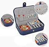 YYANG Travel Jewellery Box Organizador De Joyas para Collares Anillos Espárragos con Ganchos Bolsillo Elástico Múltiple,Blue