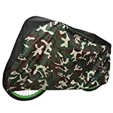 HDE Bike Cover Waterproof Outdoor Storage Heavy Duty Bicycle Covers for Electric Bike, Mountain Bikes, Beach Cruiser, BMX Bikes (Camo)