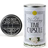 Wedding Time Capsule Personalized Keepsake Set - Bridal Shower Decorations - Wedding Gifts for Couple or Bride - Memory Storage Container Tin