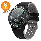 GPS Smart Watch for Android and iOS-Altimeter/Barometer/Compass, Bluetooth Smartwatch All-Day Heart Rate and Activity Fitness Tracker, Waterproof/Outdoor/Trail/Hiking Running Watch for Men/Women/Kids
