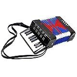 Neufday Instrument à Cordes éducatif pour accordéon 17 Basses et 8 Basses pour Enfants, Adultes, Amateur, débutant, Cadeau(Noir)