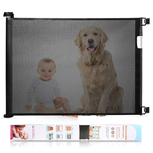 Babepai Retractable Baby Gate Wide Safety Mesh...