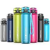 Proworks Bottiglia Acqua a Prova di Perdita | Pallone Sport Scorrimento Ideale per Corsa, Ciclismo & Escursionismo | Bottiglia per Bibite in Plastica Tritan Senza BPA - 0,5 Litri (18 Once) - Azzurro