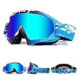 OTG Ski Snow Goggles, 100% UV Protection Anti Fog Snowboard Goggles for Men Women Youth