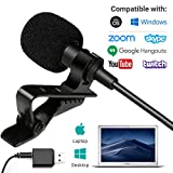 Movo Sevenoak Universal USB Microphone for Computer with USB Adapter Compatible with Laptop, Desktop, PC and Mac, Smartphones, Cameras, Podcasting, Remote Work and Laptop Microphone (20-Foot Cord)
