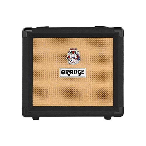 """Orange Crush 12 Guitar Amp Combo Black Single channel solid state Crush 1x6"""" combo headphone out, 12 Watts"""