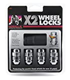 Gorilla Automotive (71631X) 12mm x 1.50 Thread Size Acorn Chrome X2 Wheel Lock, (Pack of 4)