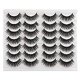 Newcally Lashes Fake Eyelashes Long Dramatic Thick Volume Faux Mink Eye Lashes 14 Pairs Pack