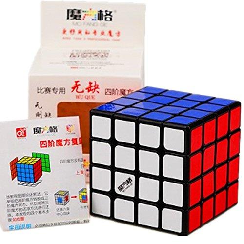 Cuberspeed New Batch Qiyi WuQue 4x4 Black Magic Cube MoFangGe Wuque 4x4 Black...