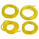 Hipa (4 Size 4-Feet-Long Fuel Line Hose Tube I.D. x O.D. 3/32' x 3/16' 1/8' x 3/16' 1/8' x 1/4' .080' x .140' for Poulan Craftman Chainsaw String Trimmer Blower