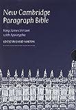 New Cambridge Paragraph Bible with Apocrypha, Black Calfskin Leather, KJ595:TA Black Calfskin: Personal Size