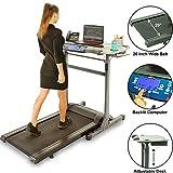 Exerpeutic 5000 ExerWork 20' Wide Belt Desk Treadmill with Adjustable Desktop Height, 325 lbs Capacity