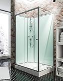Cabine de douche complète Corsica 120 x 80 cm, cabine de douche intégrale...