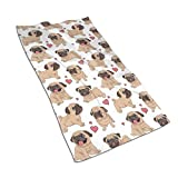 Pug Kitchen Towels ¨C 17.5X27.5in Microfiber Terry Dish Towels for Drying Dishes and Blotting Spills ¨CDish Towels for Your Kitchen Decor
