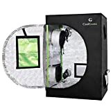 24'x24'x36'Mylar Hydroponic Grow Tent with Obeservation Window and Floor Tray for Indoor Plant Growing 2'x2' (24'x24'x36')