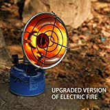 Mrinb Mini Gas Heater for Camping, Outdoor Heating Camping Stove, Propane Butane Tent Heater with Stand, for Fishing Hunting