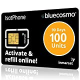 BlueCosmo IsatPhone 100 Unit Global Satellite Phone Prepaid Service SIM Card for Inmarsat IsatPhone Pro and IsatPhone 2 | 90 Day Expiry - No Activation Fees - Voice - SMS Text Messaging