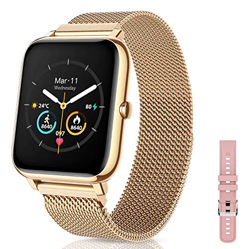 Canmixs Smartwatch Orologio Fitness Donna Uomo Acciaio Bluetooth Smart Watch Cardiofrequenzimetro Da...