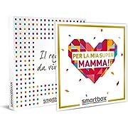smartbox - Cofanetto Regalo - per la mia Super Mamma! - Idee Regalo - 1 Notte con Colazione per 2 o 1 Cena o 1 attività Benessere o Sportiva da 1 a 4 Persone