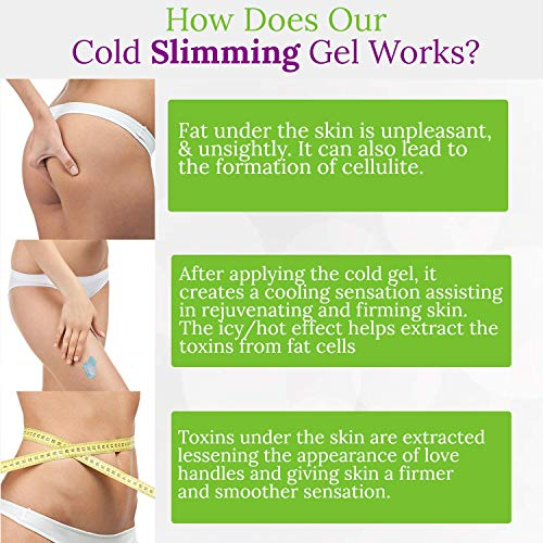 Cellulite Cold Slimming Gel with Caffeine and Green Tea Extract - Reduce Appearance of Cellulite, Stretch Marks, Firming and Toning, Improves Circulation - Quick Absorption- Cryo Gel (1 Jar) 6
