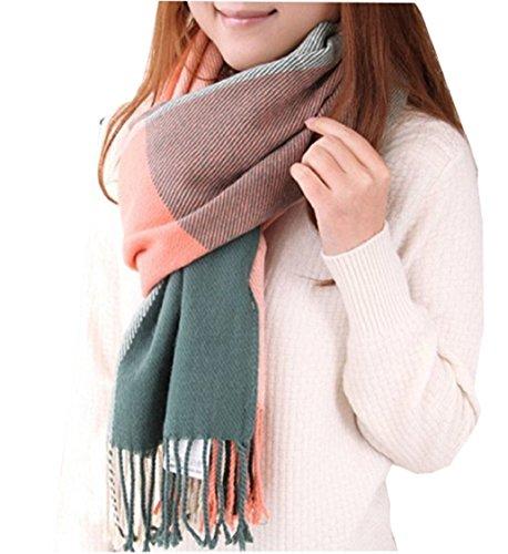heekpek Mujeres caliente Mantas Cozy Pashmina bufanda larga tartán enrejado mantón...