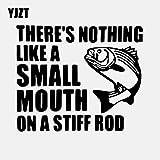 A/X 15,7 CM * 13,1 CM No Hay Nada como una pequeña Boca en una caña rígida Cita de Pesca Calcomanía de Vinilo para Coche Negro/Plata C24-0497 Negro