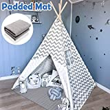 Teepee Tent for Kids with Padded Mat- Play Tent for Boy Girl Indoor &...