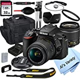 Nikon D5600 DSLR Camera with 18-55mm VR Lens + 32GB Card, Tripod, Case, and More (18pc Bundle)