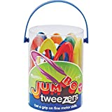 KIDS TWEEZERS: Set includes 12 tweezers in 6 colors, activity guide, and plastic storage container for children, classroom and home use KIDS TWEEZER FOR FINE MOTOR: Build fine motor skills by developing the thumb-forefinger pincer grasp FINE MOTOR TO...