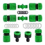 YAAVAAW Lot de 10 Plastique connecteurs Rapides pour Tuyau d'arrosage (6 Hose Quick Connector,2...