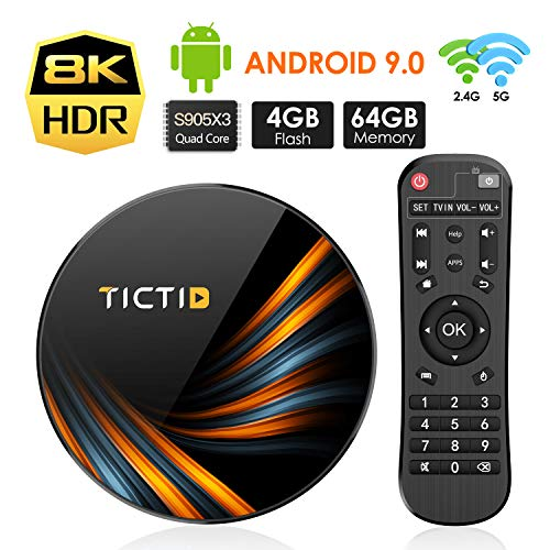 TICTID Smart TV Box【4GB+64GB】 Android TV Box TX6...