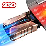 KLIM Cool + Metal Laptop Cooler Fan - The Most Powerful Gaming External Air Vacuum - Computer USB for Immediate Cooling - Slim - Portable - Quiet - Cooling Pad to Solve Internal Overheating