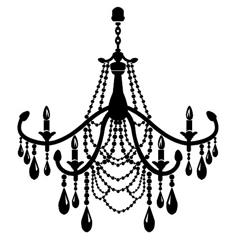 Newclew Studio Burnish Chandelier Style 11 Vinyl Wall Decal Sticker
