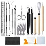22 Precision Craft Vinyl Weeding Tool Hobby Basic Kit de Vinilo para Letras Cricut - de plata