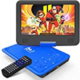 DR. J 11.5' Portable DVD Player with HD 9.5' Swivel Screen, Rechargeable Battery with Wall Charger,...