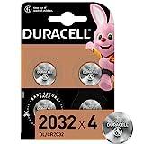 Duracell 2032 Pile bouton lithium 3V, lot de 4, avec Technologie Baby...