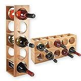 Gräfenstayn 30543 casier à vin CUBE - empilable en bois de...